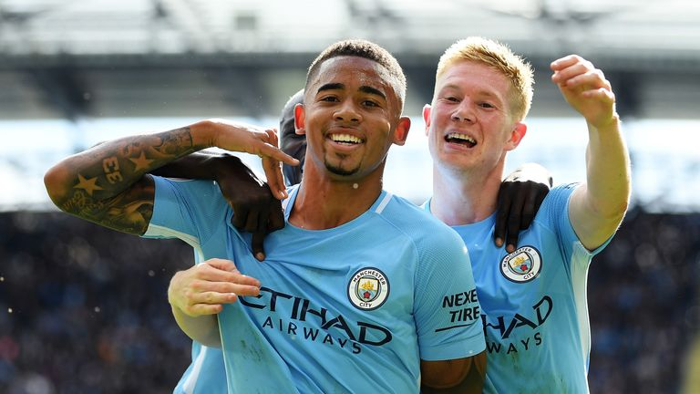 Gabriel Jesus has stepped up to lead Man City's front line in the absence of the injured Sergio Aguero