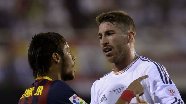 Neymar will come face to face with Sergio Ramos once more on Wednesday night
