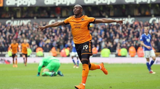 Stoke are in advanced talks to sign Wolves' Benik Afobe