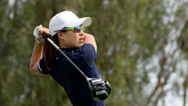 Jennifer Song dropped out of the play-off at the third hole
