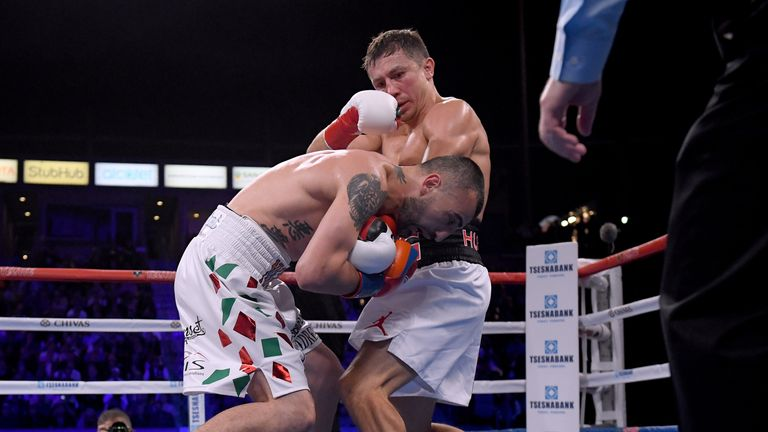 Golovkin defended three other belts - but not his IBF Middleweight title - against Vanes Martirosyan on May 5