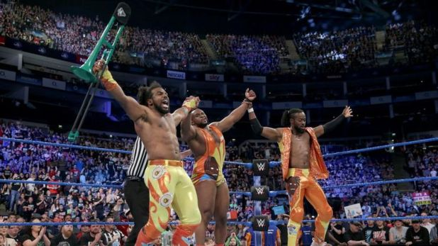 Kofi Kingston has had eight runs as a tag-team champion, five of them with The New Day