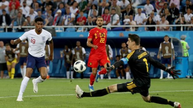 England missed the chance to finish top in their group when they lost 1-0 to Belgium