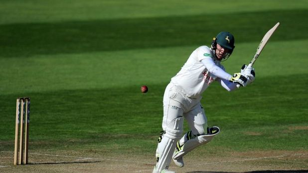 Tom Moores cracked a quickfire 87 for Nottinghamshire