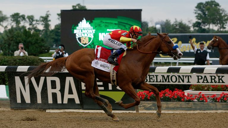 The moment Justify landed the Triple Crown