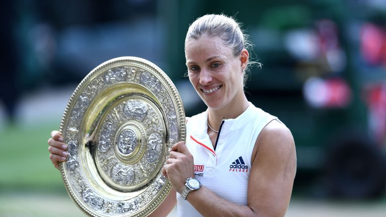 Image result for pic of Angelique Kerber win serena at wimbledon