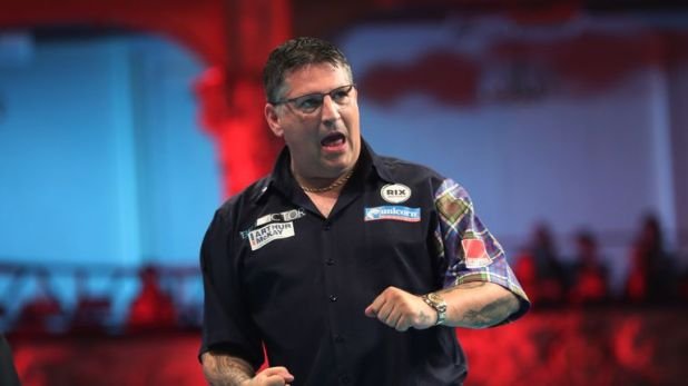 Gary Anderson set up a clash with Raymond van Barneveld in Blackpool