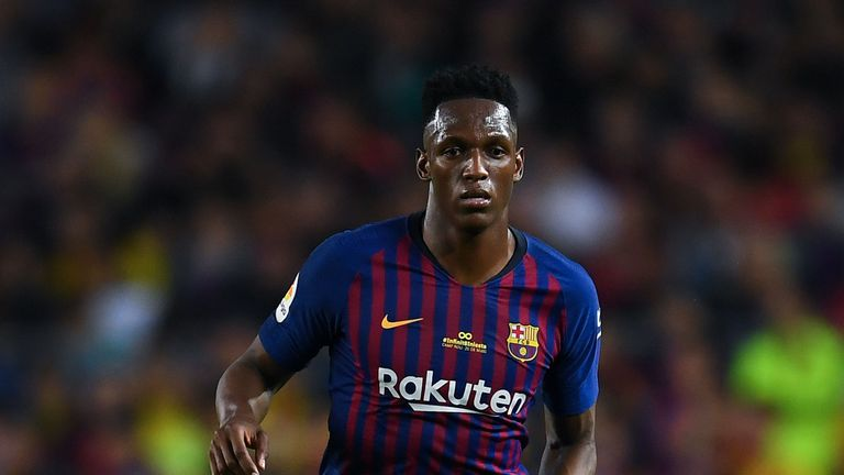 Barcelona reportedly have a buy-back clause on Yerry Mina from Everton