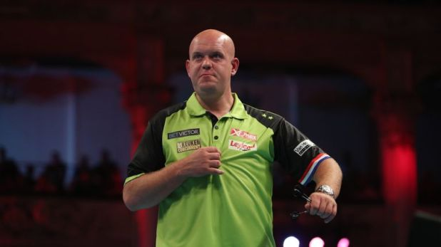 Michael van Gerwen kicks off his bid for a third Matchplay title against the most experienced player in the field