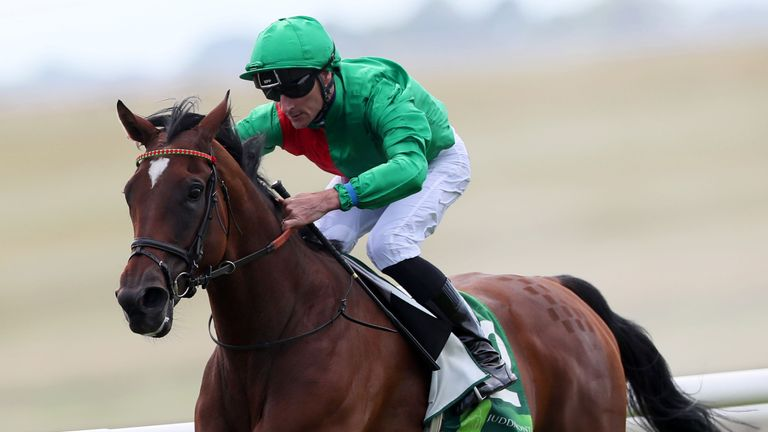 Urban Fox and Daniel Tudhope win the Juddmonte Pretty Polly Stakes