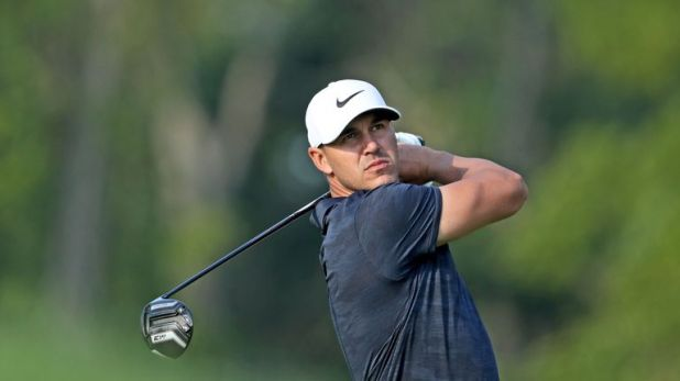 Brooks Koepka missed a putt for a 62 on the final hole