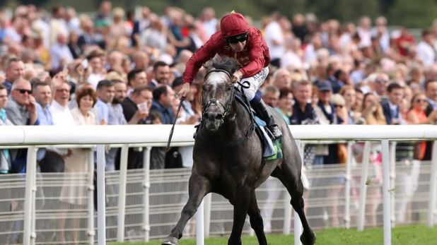 Roaring Lion ridden by Oisin Murphy wins the Juddmonte International Stakes at York