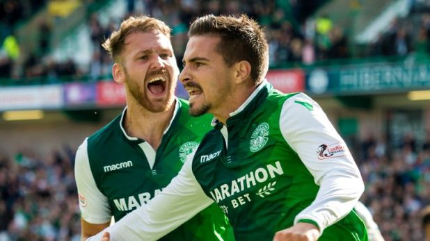 Hibernian's Jamie MacLaren and Martin Boyle will miss the remaining matches of 2018