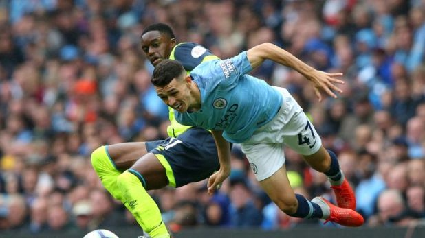 Foden's only Premier League appearance this season came against Huddersfield