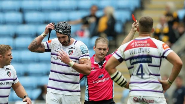 Will Spencer received a controversial red card against Wasps