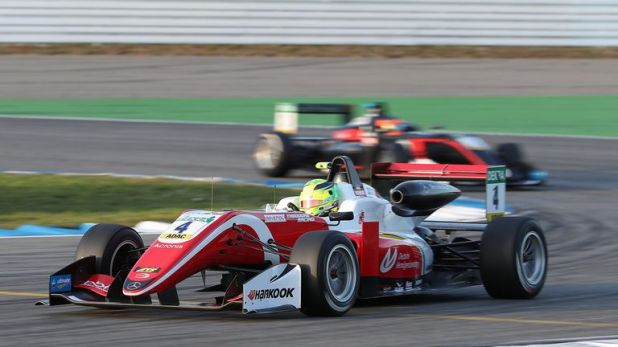 Mick Schumacher finished second in the race at Hockenheim, enough to clinch the title