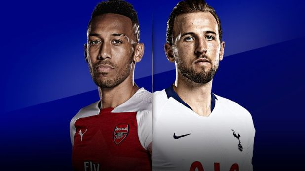 Kane and Aubameyang both have 14 goals for their respective north-London rivals