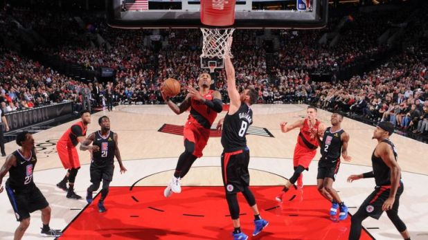 clippers trail blazers nba