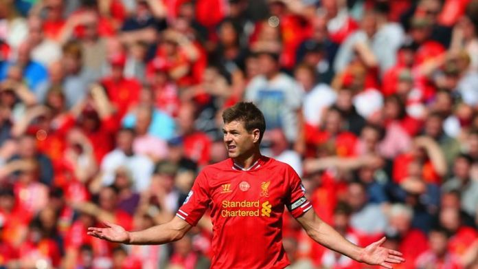 Steven Gerrard slipped into Liverpool's 2-0 defeat at Chelsea five years ago