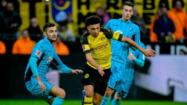 Jadon Sancho impressed for Borussia Dortmund