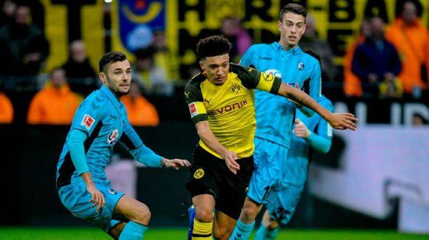 Jadon Sancho impressed for Borussia Dortmund