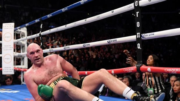 Fury was floored heavily in the final round