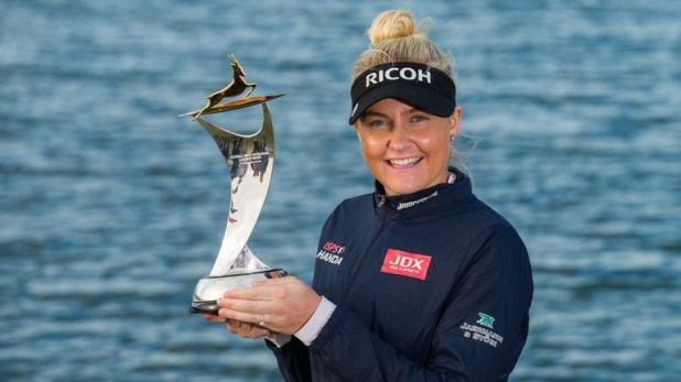 Charley Hull completed a wire-to-wire victory
