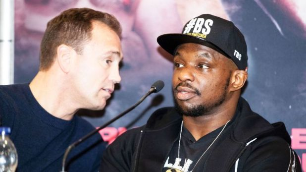 Dillian Whyte held a meeting with Hearn on Monday