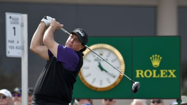 Phil Mickelson holds a two-shot lead after 36 holes