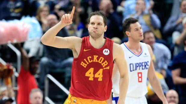 Bojan Bogdanovic celebrates a basket against the Clippers