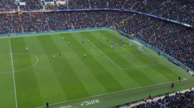 Bernardo Silva had six touches in the box even though eight Chelsea players were close