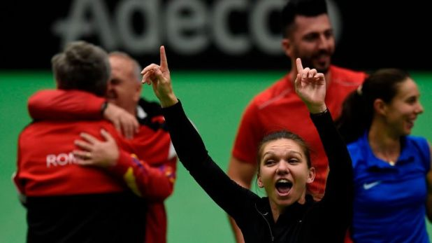 Simona Halep helped Romania reach the last four of the Fed Cup for the first time