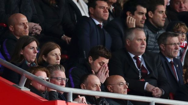 Mauricio Pochettino was in the stands serving the first of a two-match ban
