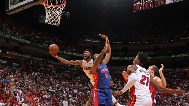 nba miami heat v detroit pistons