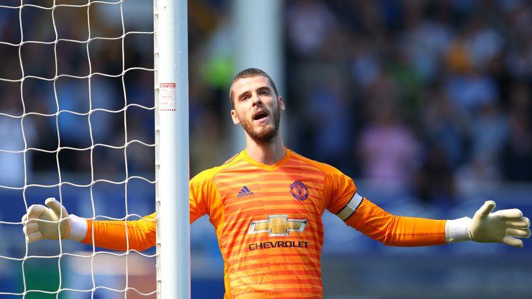 De Gea captained United in Antonio Valencia's absence last season