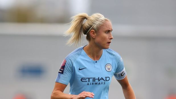 City's women's captain Steph Houghton led them to a cup double this season