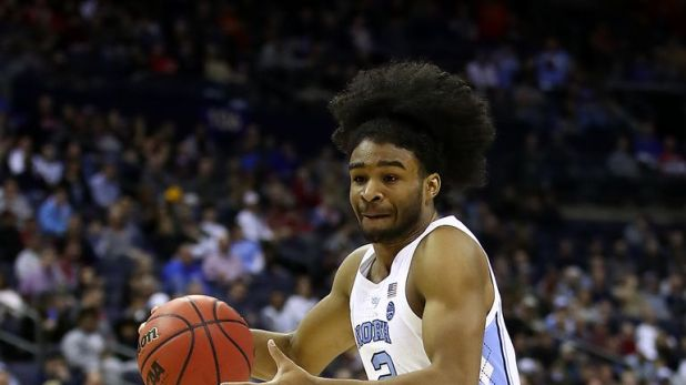 Coby White #2 of the North Carolina Tar Heels drives against the Iona Gaels during the second half of the game in the first round of the 2019 NCAA Men's Basketball Tournament at Nationwide Arena on March 22, 2019 in Columbus, Ohio.