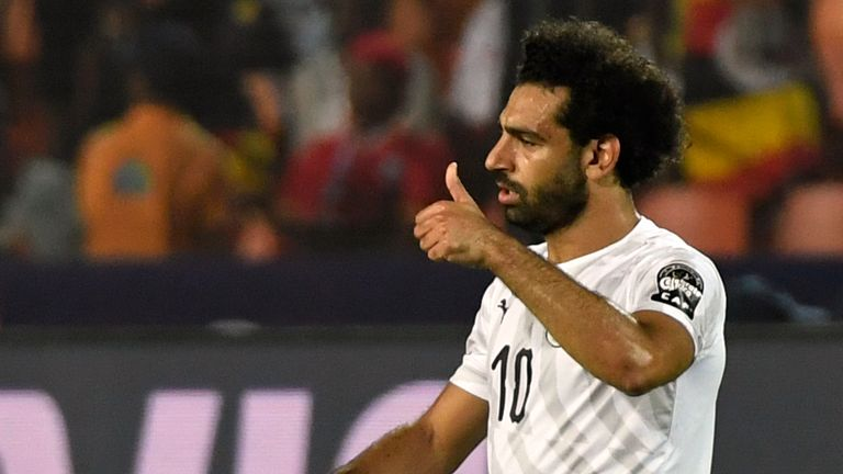 Mohamed Salah netted for Egypt again as they topped Group A