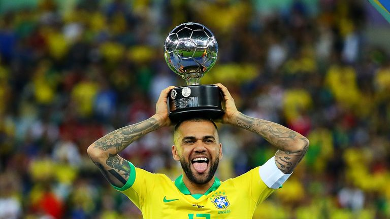 Dani Alves captained Brazil to Copa America glory over the summer