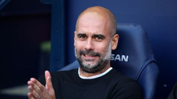 Pep Guardiola is aiming to lead Manchester City to their third Premier League title in a row