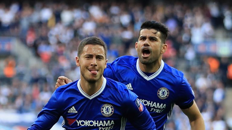Eden Hazard and Diego Costa won two Premier League titles together at Chelsea