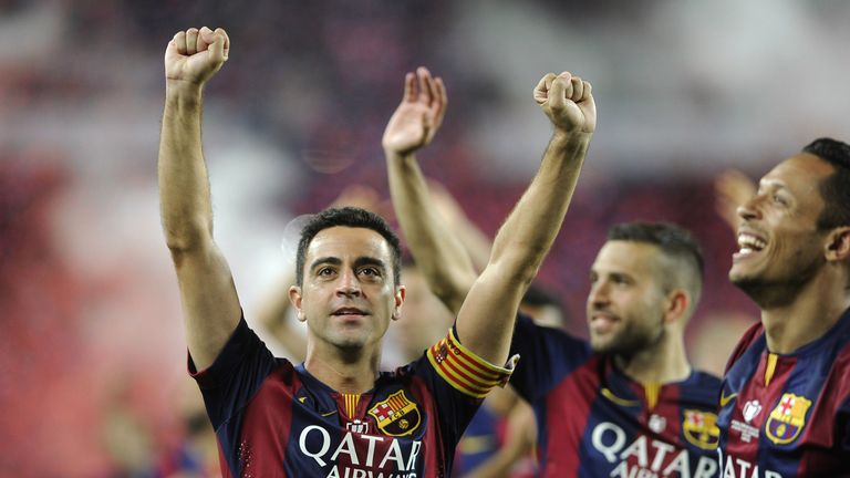 Xavi won 25 trophies in a glorious 17-year career with Barcelona