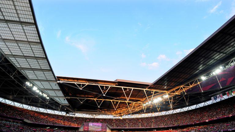 gjatë ndeshjes për medaljen e artë të Femrave në Ditën 13 të Lojërave Olimpike të Londrës 2012 në stadiumin Wembley më 9 gusht 2012 në Londër, Angli.