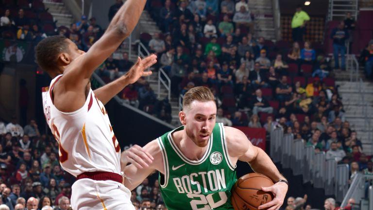 Gordon Hayward attacks the basket against Cleveland