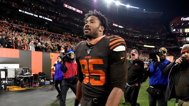 Myles Garrett and David Njoku: Cleveland Browns to exercise contract options on duo | NFL News | Sky Sports
