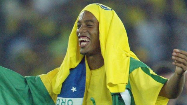 Former Barcelona midfielder Ronaldinho won the World Cup with Brazil in 2002