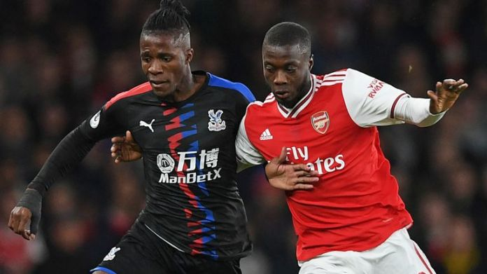 Arsenal made an offer for Crystal Palace forward Wilfried Zaha before signing Nicolas Pepe