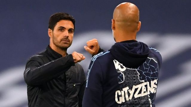 """Guardiola still has a strong relationship with Mikel Arteta and believes Arsenal are creating """"something special"""" under his former assistant"""