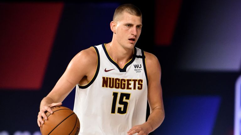 Nikola Jokic plays point guard in the Denver Nuggets' opening scrimmage game