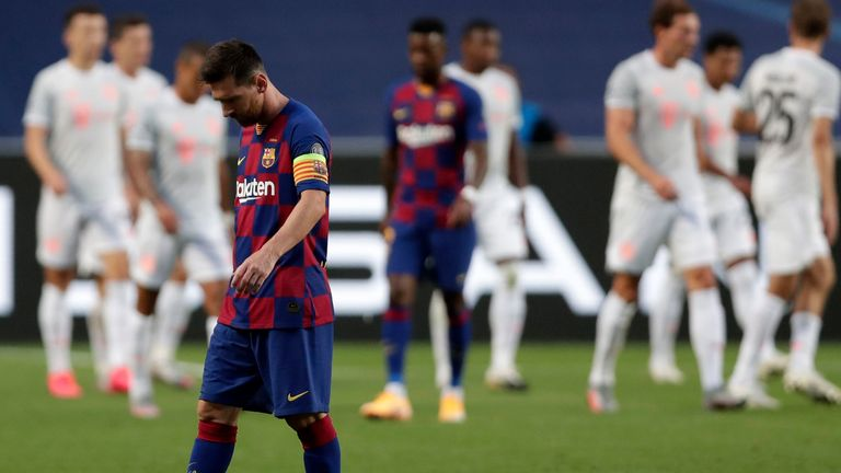 Messi has made Champions League success - but Barcelona were dumped out this year with an 8-2 defeat to Bayern Munich